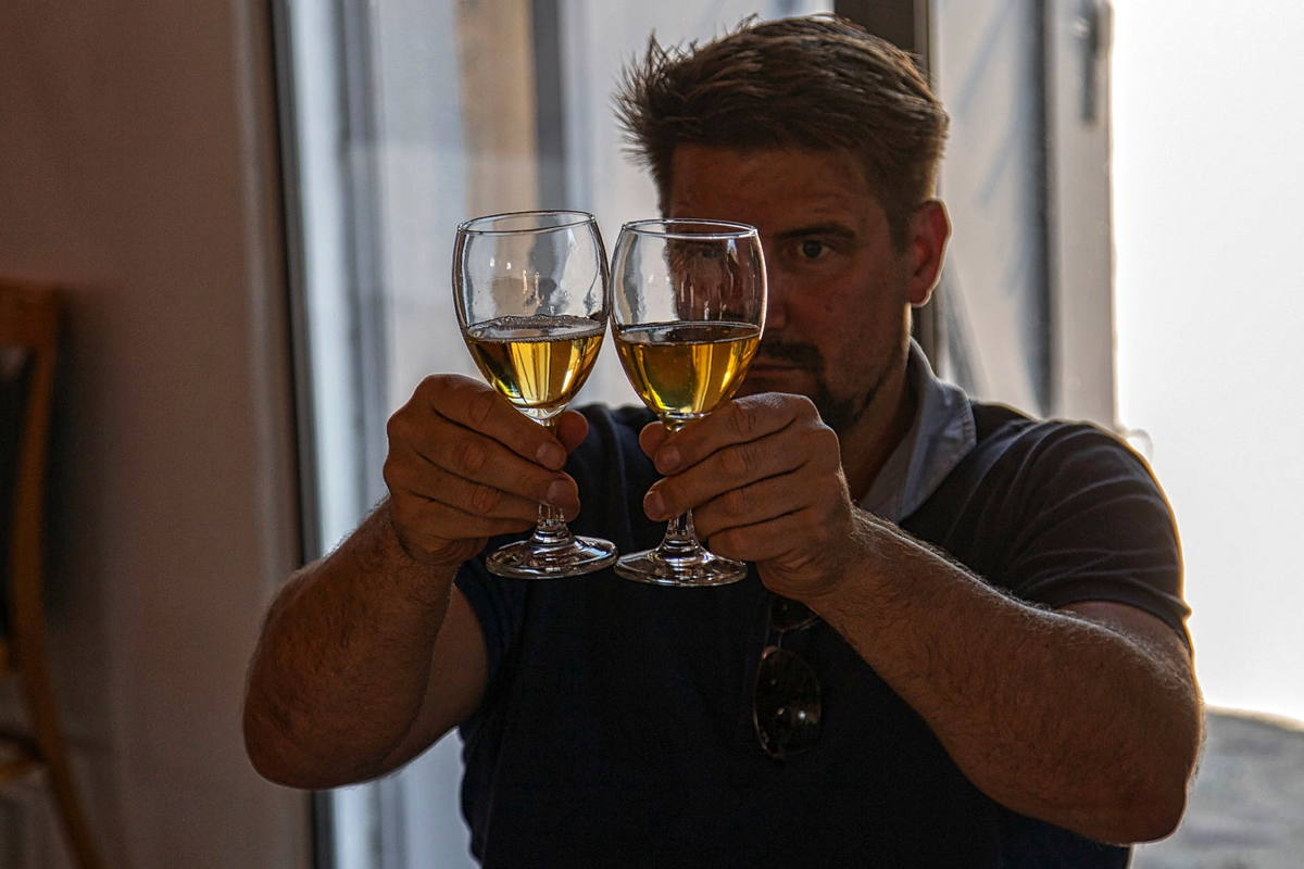 Vinsmagning ved Dansk Vinskue 2018. Foto Kurt Christiansen.
